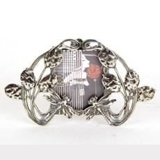 Bilderrahmen Libelle in Silber