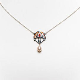 Halskette Shakudo Coral