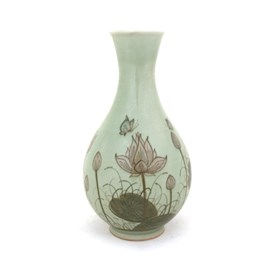 Vase Jade Lotus