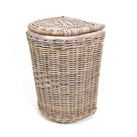 Weidenkorb für Wäscherei Farbe Grau