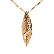 Halskette Blät Gold
