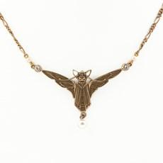 Jugendstil Halskette Fledermaus