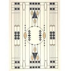 Geometrische Jugendstil Teppich 1905 Otto