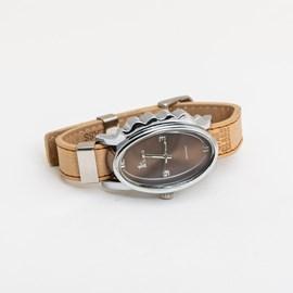 Armbanduhr Glossy Oval Beige