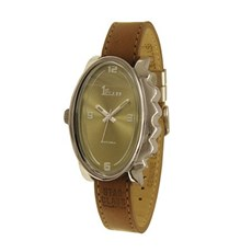 Armbanduhr Glossy Oval Braun
