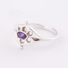 Ring Ancient Silber mit Amethyst