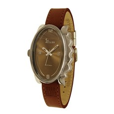 Armbanduhr Glossy Oval Dunkel Braun