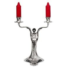 Isa Jugenstil Kerzenleuchter Zinn