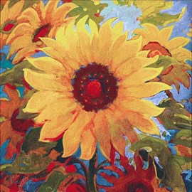 Wandteppich Sonnenblume