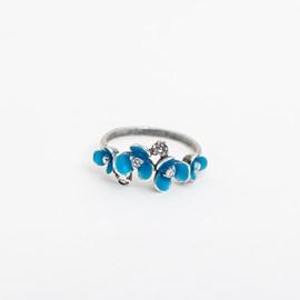 Ring Aqua Blüte