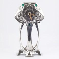 Zinn Art Nouveau Uhr Myrte