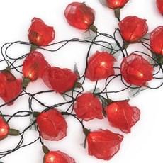 Licht Girlande Rote Rosen