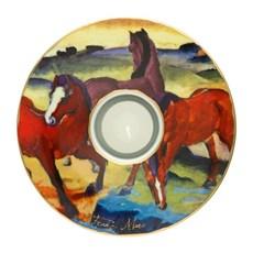 Teelichthalter Die roten Pferde