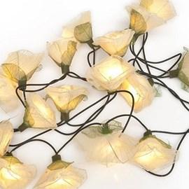 Licht Girlande Weisse Rosen