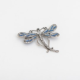 Brosche Dragonfly Emaille