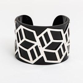 Armband Schwarz Geo
