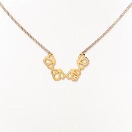 Halskette Deco mit weißem Saphir