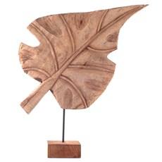 Holz-Skulptur Blatt