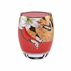 Tee-Licht Lilien und Schmetterlinge Rot