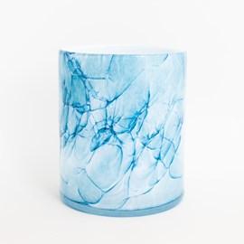 Zylinder Vase Marble Blue