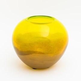 Globus Vase Green & Gold