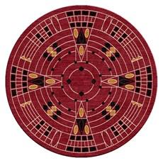 Rund Teppich Geometric