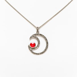 Halskette Red Moon