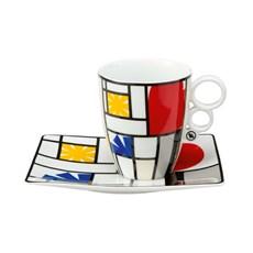 Mondrian Tasse und Untertasse