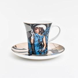 Espressotasse und Untertasse   Tamara de Lempicka