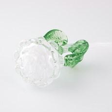 Glasskulptur Rose weiß