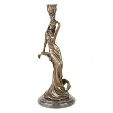 Bronze Kerzenhalter / Skulptur Carmen