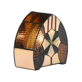 Tiffany Uhr / Tischlampe Parabola