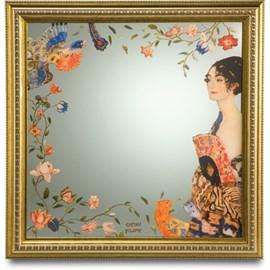 Spiegel Dame mit Fächer | Klimt