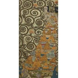 Wandteppich Klimt Die Erwartung Gold