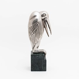 Skulptur Marabou Silber