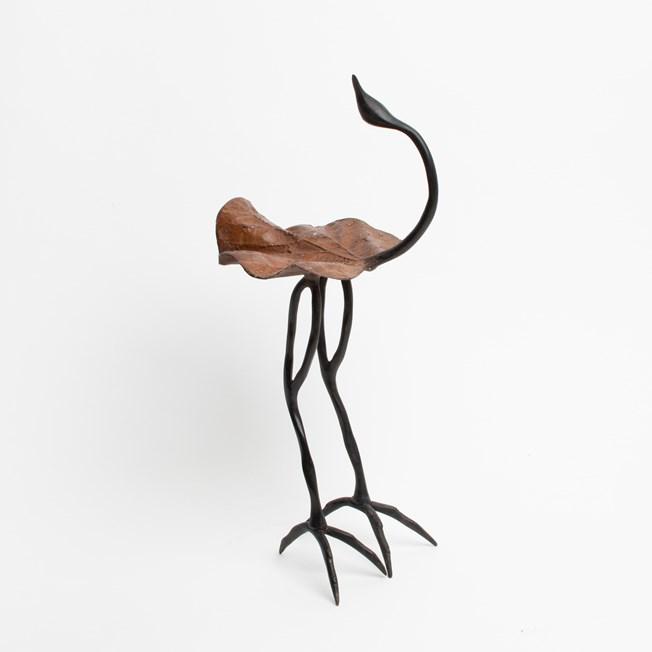 Skulptur Vogel Bronze