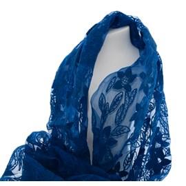 Schal Blau Seide