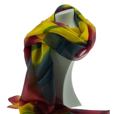 Seidenschal Batik Gelb