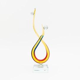 Glasskulptur Miteinander Verbunden