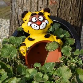 Gartenkugel Katze