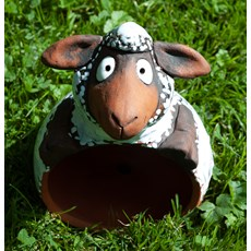 Gartenkugel Schafe Braun