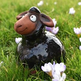 Gartenkugel Schafe Schwarz