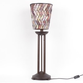 Tischlampe Tiffany Zylinder