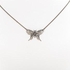 Silberne Halskette Schmetterling Yasmin