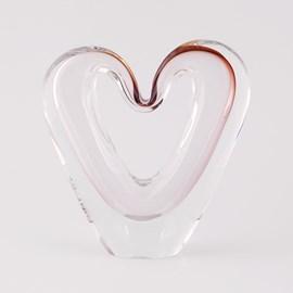 Skulptur Glas Liebe Herz