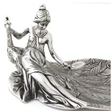 Art Nouveau Schale Peacock