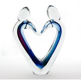 Glasskulptur Verbundenheit Gefärbt