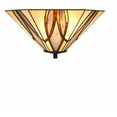 Tiffany Art Deco Leuchte Round & Square