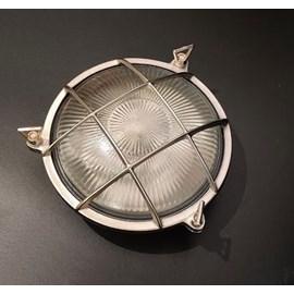 Wand- / Deckenleuchte rund mattes Nickel