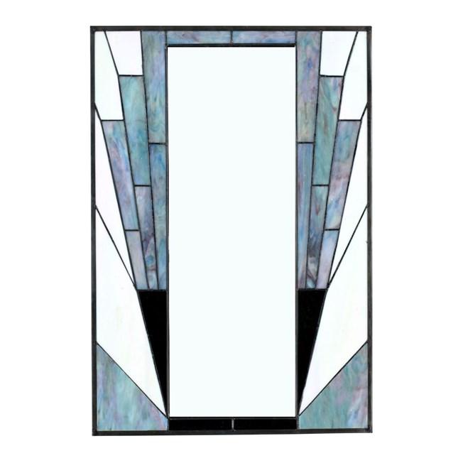 French Art Deco Spiegel Blue